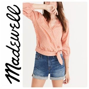 Madewell Star Scatter Wrap Top